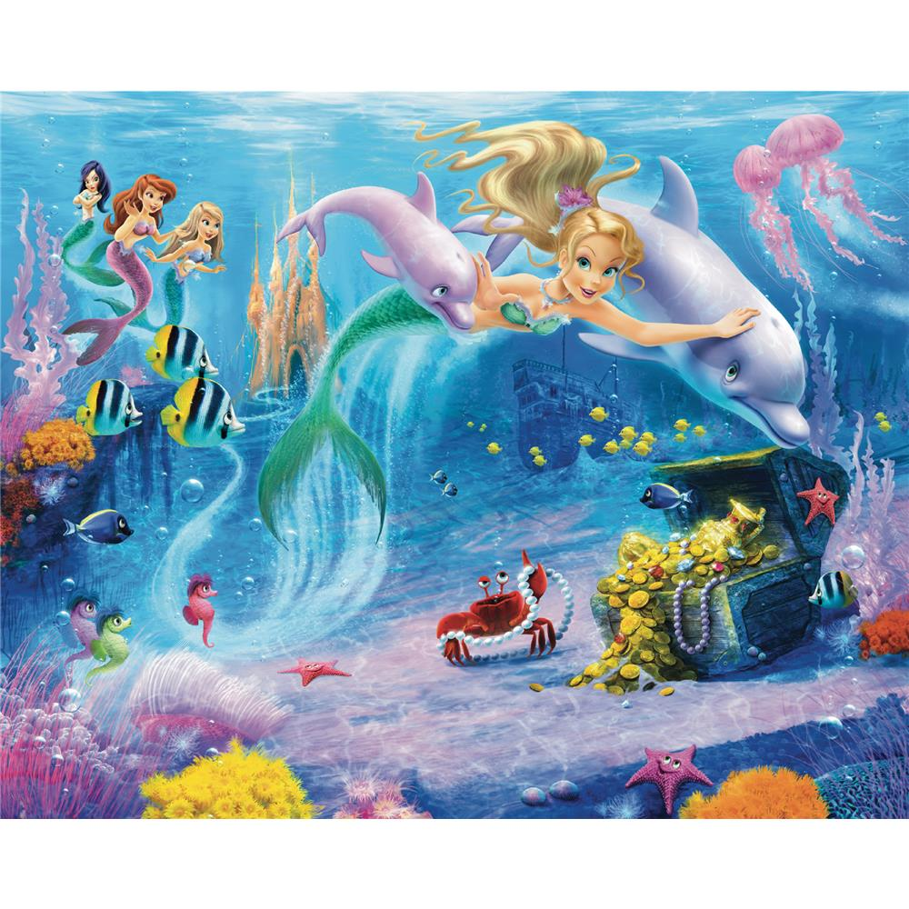 Walltastic by Brewster WT40588 Mermaids Wall Mural