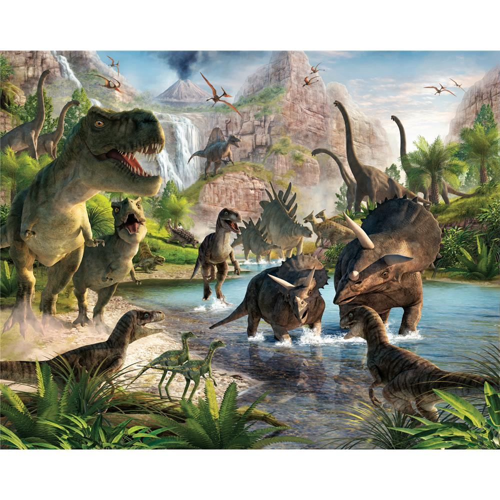 Walltastic by Brewster WT41745 Dinosaur Land Wall Mural