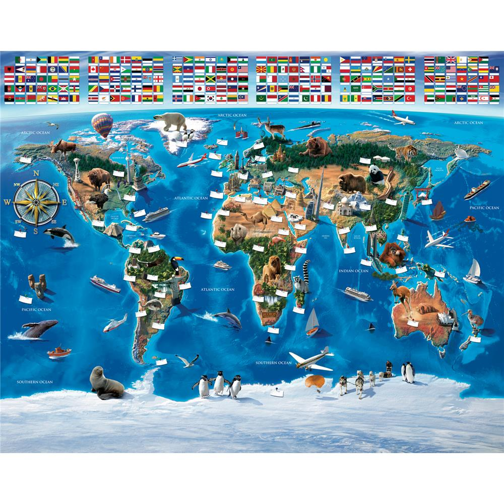 Walltastic by Brewster WT41851 Map Of The World Wall Mural