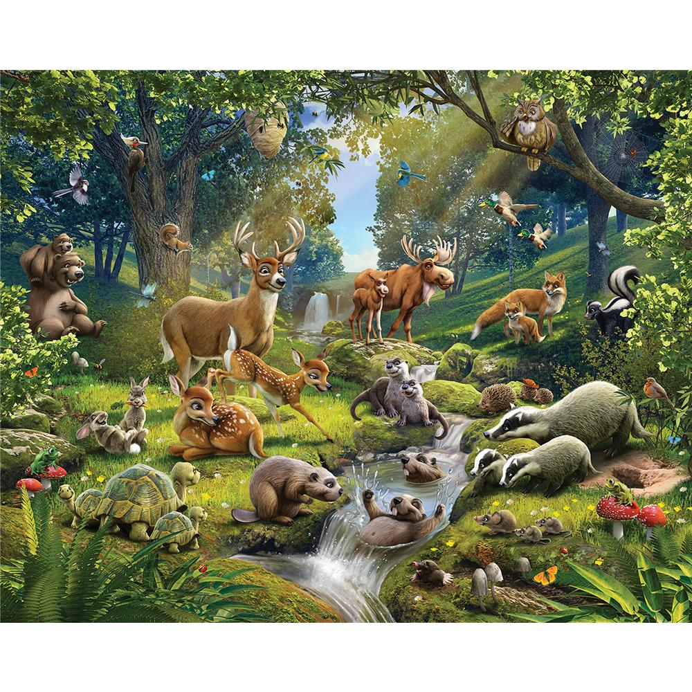 Walltastic by Brewster WT43060 Animals Of The Forest Wall Mural