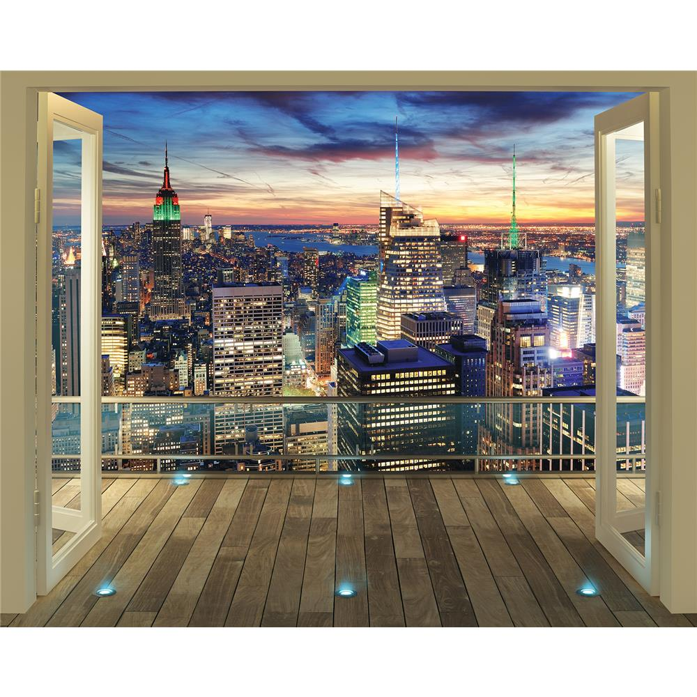 Walltastic by Brewster WT43558 New York City Skyline Wall Mural