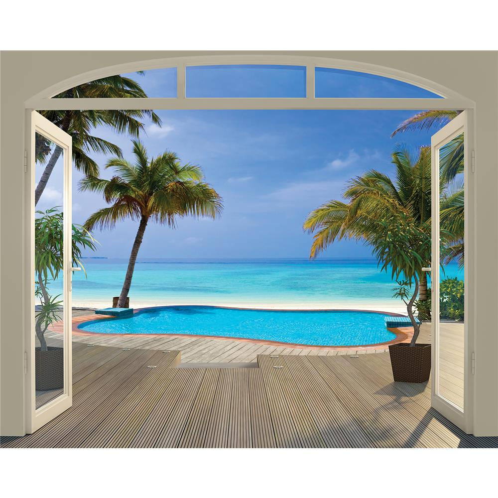 Walltastic by Brewster WT43565 Paradise Beach Wall Mural