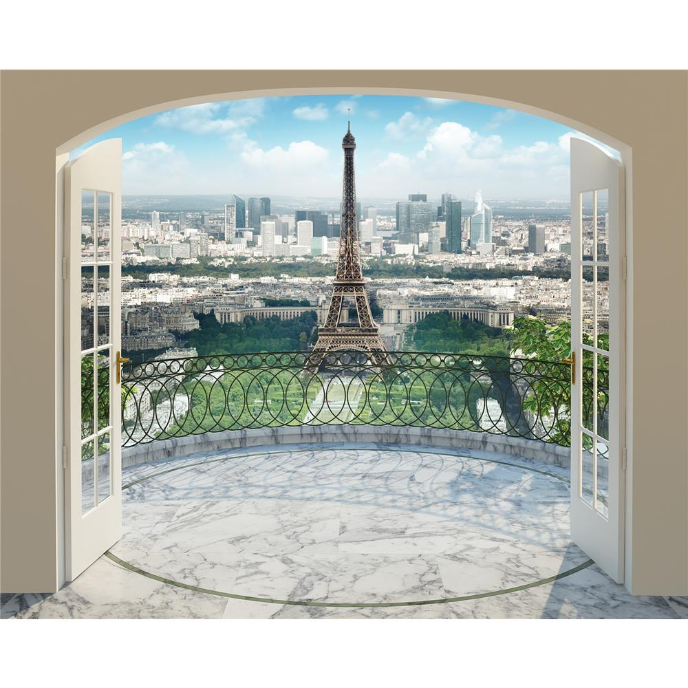 Walltastic by Brewster WT43589 Eiffel Tower in Paris Wall Mural