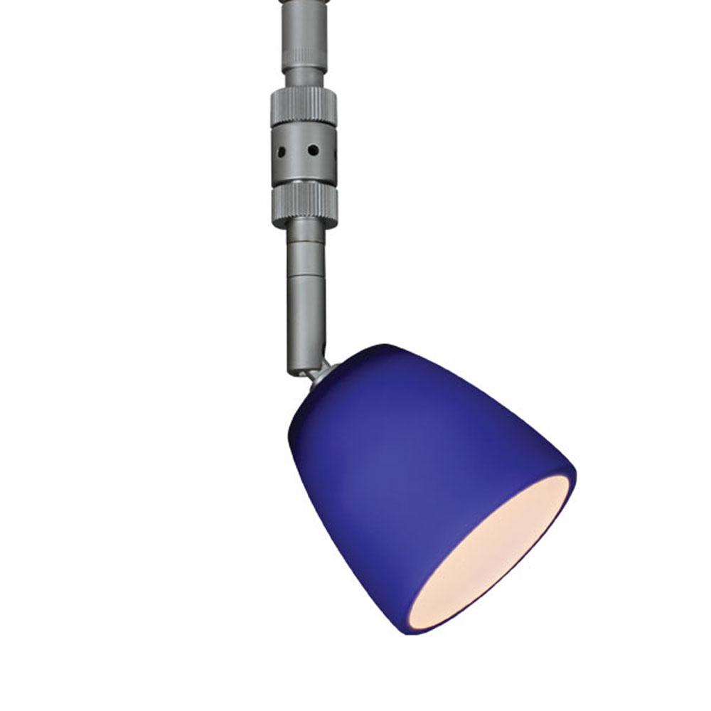 Bruck Lighting 137346mc Mini Pira - Spot Light - LED - Uni-Plug - Matte Chrome Finish - Blue Glass Shade