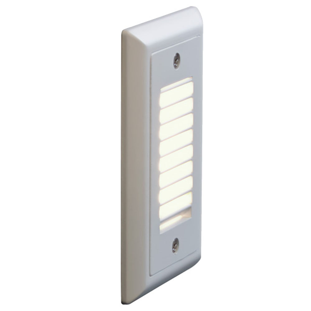 Bruck Lighting 138021wh/3/vl Step 1 - Step Light - LED - Vertical Louver - 3000K - White Finish