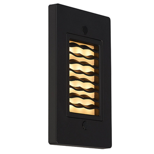 Bruck Lighting 138021bz/3/vw Step 1 - Step Light - LED - Vertical Wave - 3000K - Bronze Finish
