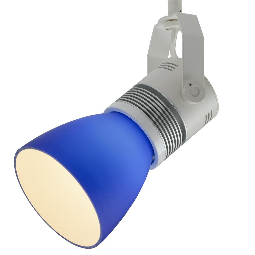 Bruck Lighting 350422wh/16/ZON/blu Z15 LED Track Spot - 1600 lm - Zonyx System - White Finish - Blue Glass Shade