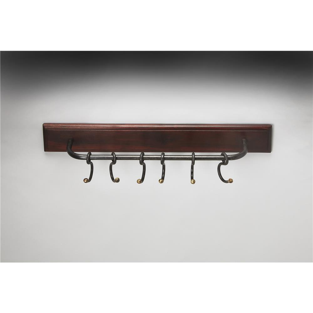 Butler Specialty 3366016 GLENDO Butler Glendo Iron & Wood Wall Rack