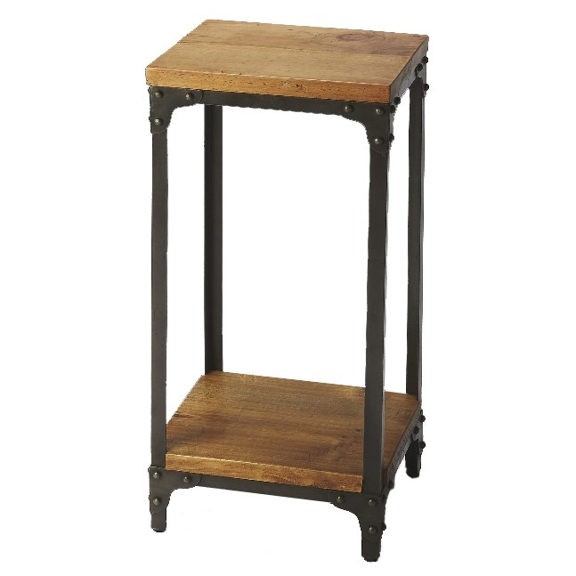 Butler Specialty 2874330 GRIMSLEY Butler Grimsley Iron & Wood Pedestal Stand