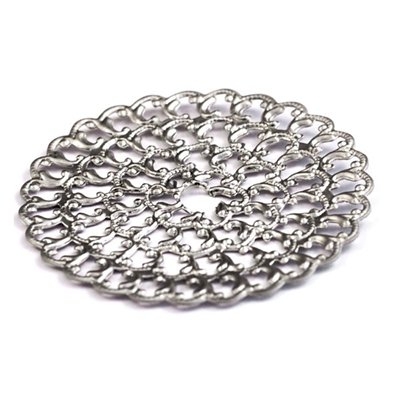 Cal Crystal 32BP BACKPLATE Crystal Excel ROUND BACKPLATE in Polished Nickel
