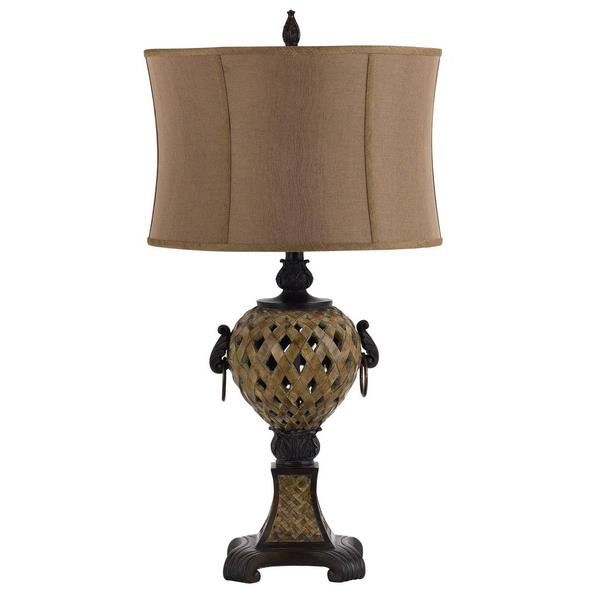 CAL Lighting BO-2284TB 150W 3 Way Emporia Resin Table Lamp in Soil