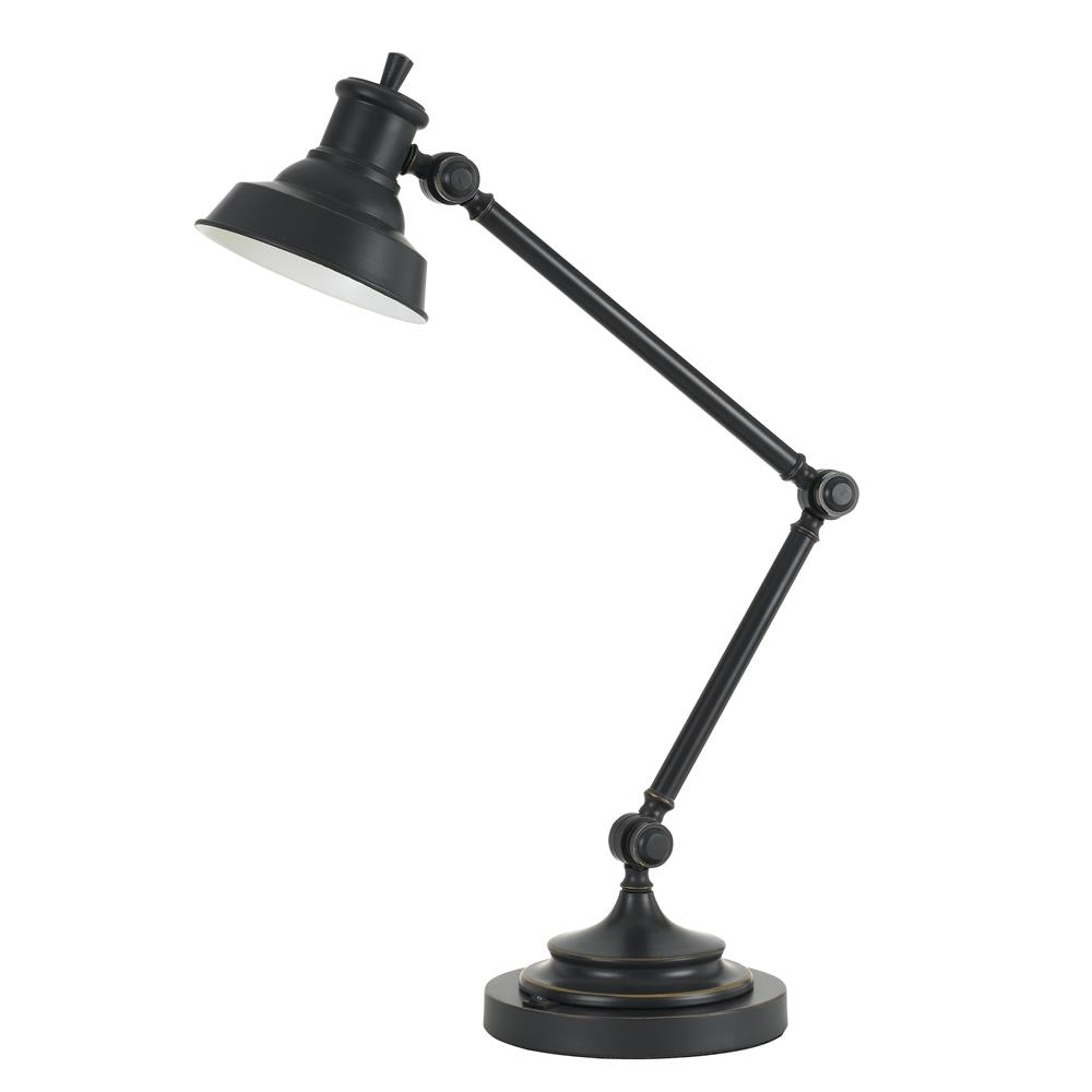 Cal Lighting BO-2666DK Dark Bronze LED 7W, 500LM, 3000K metal desk lamp