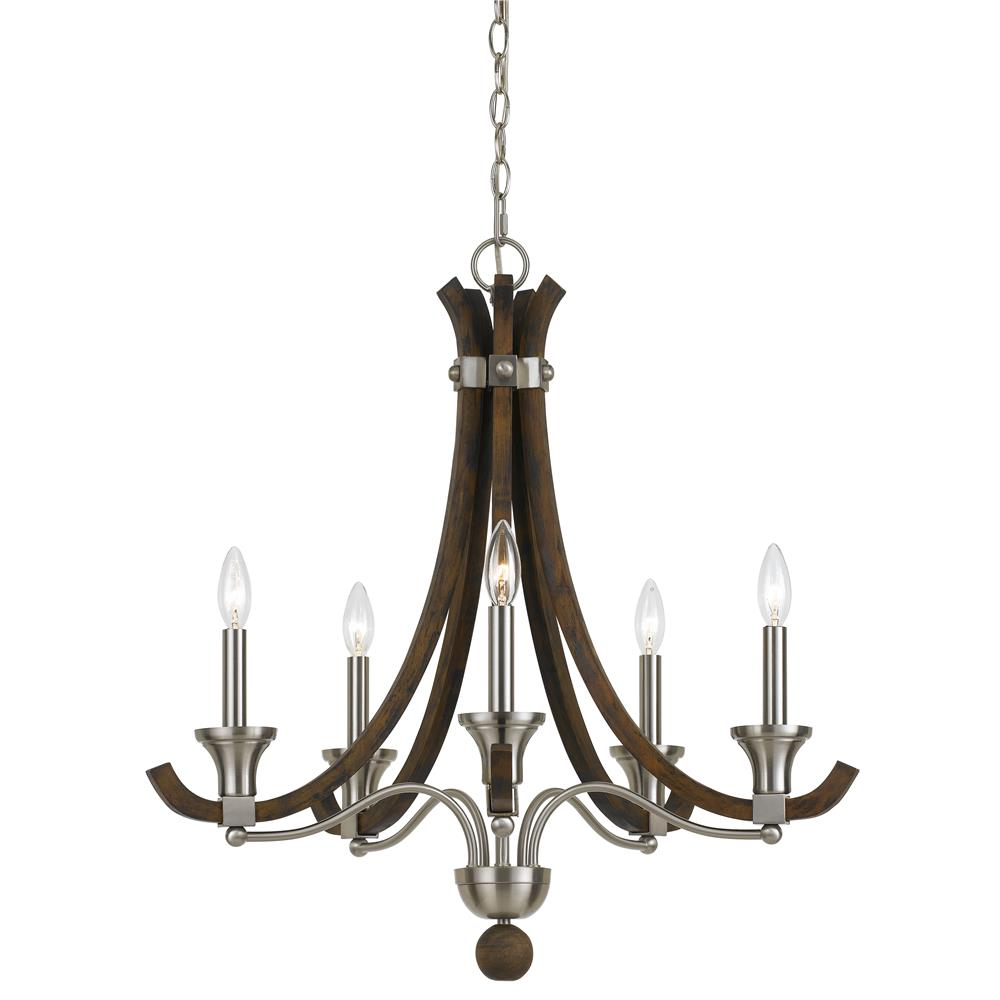 cal lighting fx 3619 5 cal lighting wood chandelier