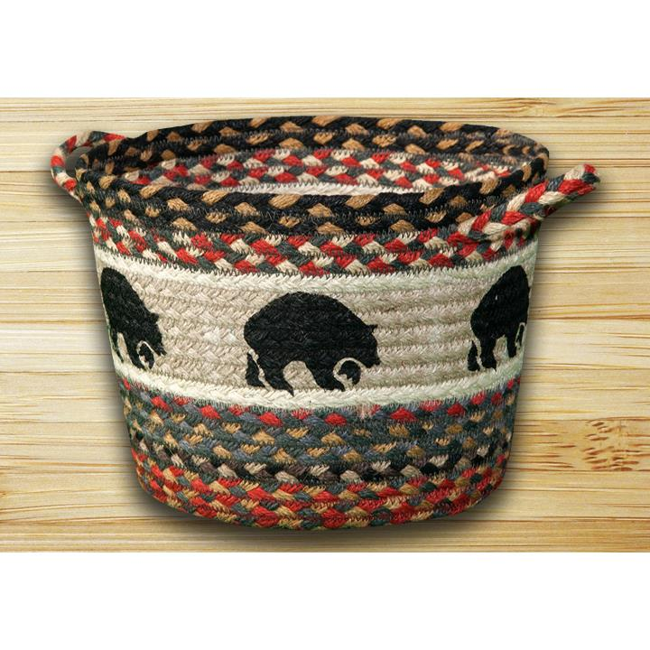 "Capitol Earth Rugs UBP-43 Black Bears Printed Utility Basket 17""x11"""