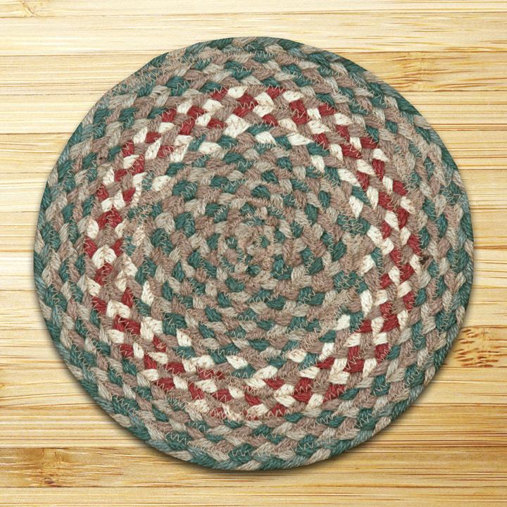 Capitol Earth Rugs Round Swatch in Green/Burgundy