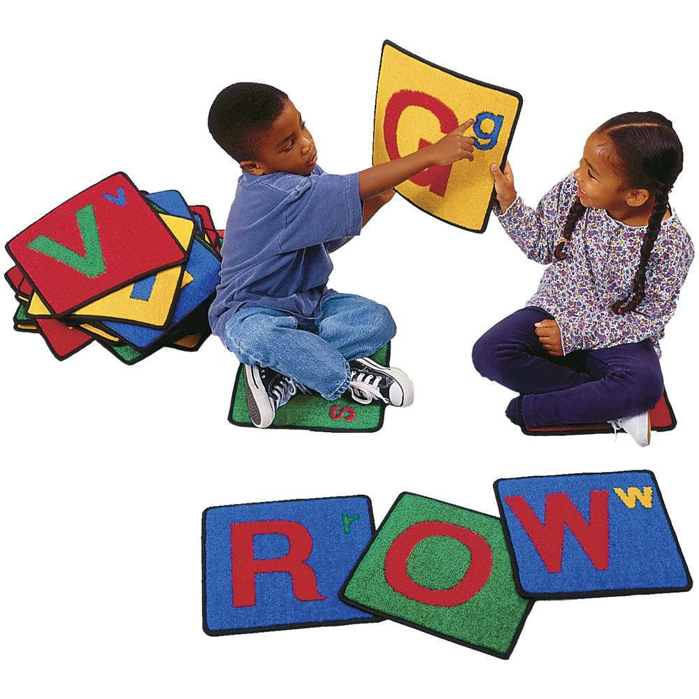 Carpet for Kids 926 Alphabet Squares Rug - Set of 26