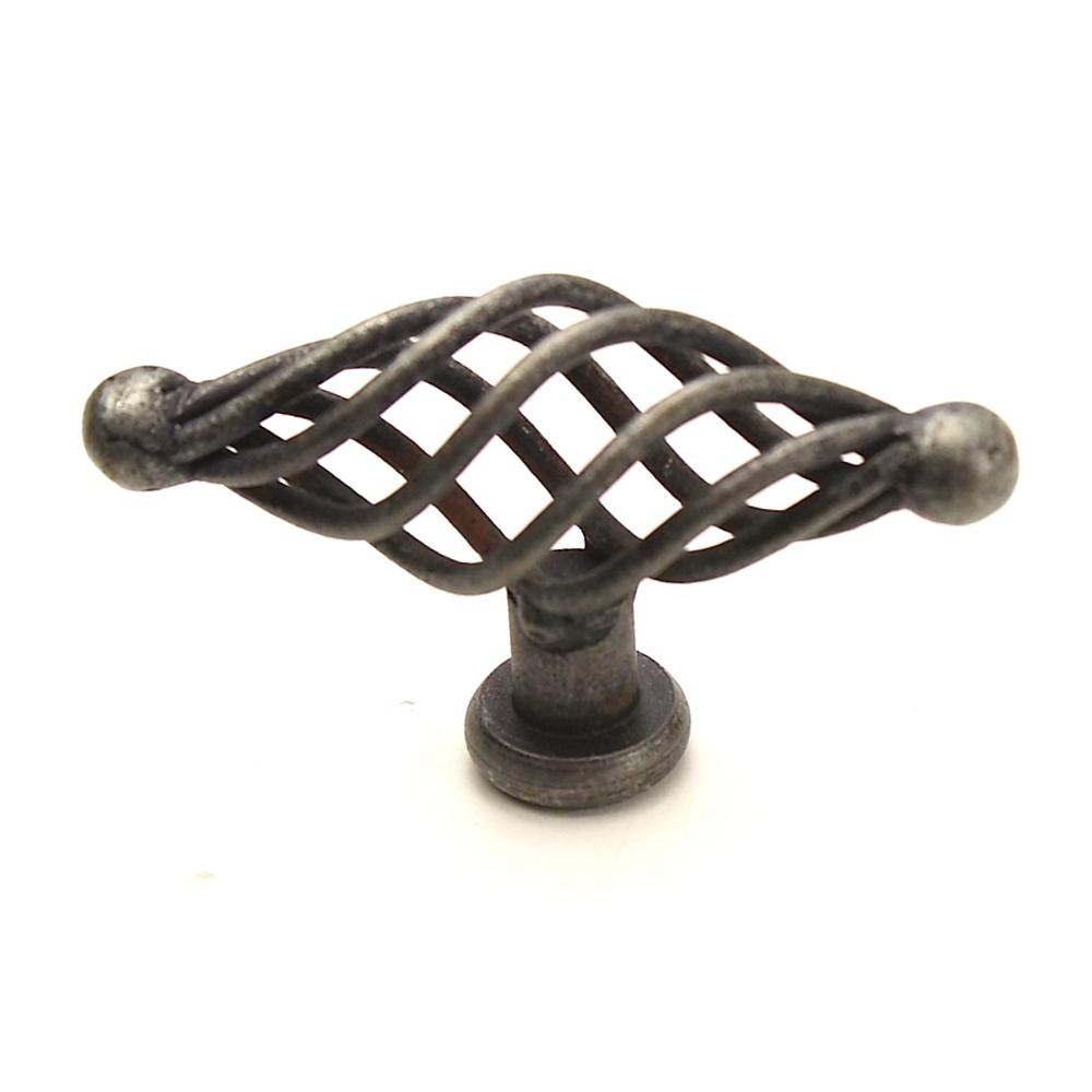 Century Hardware 42428-WI Wrought Iron, Appliance Oval Knob, 2-3/4 inch length, Wrought Iron in the Saxon collection