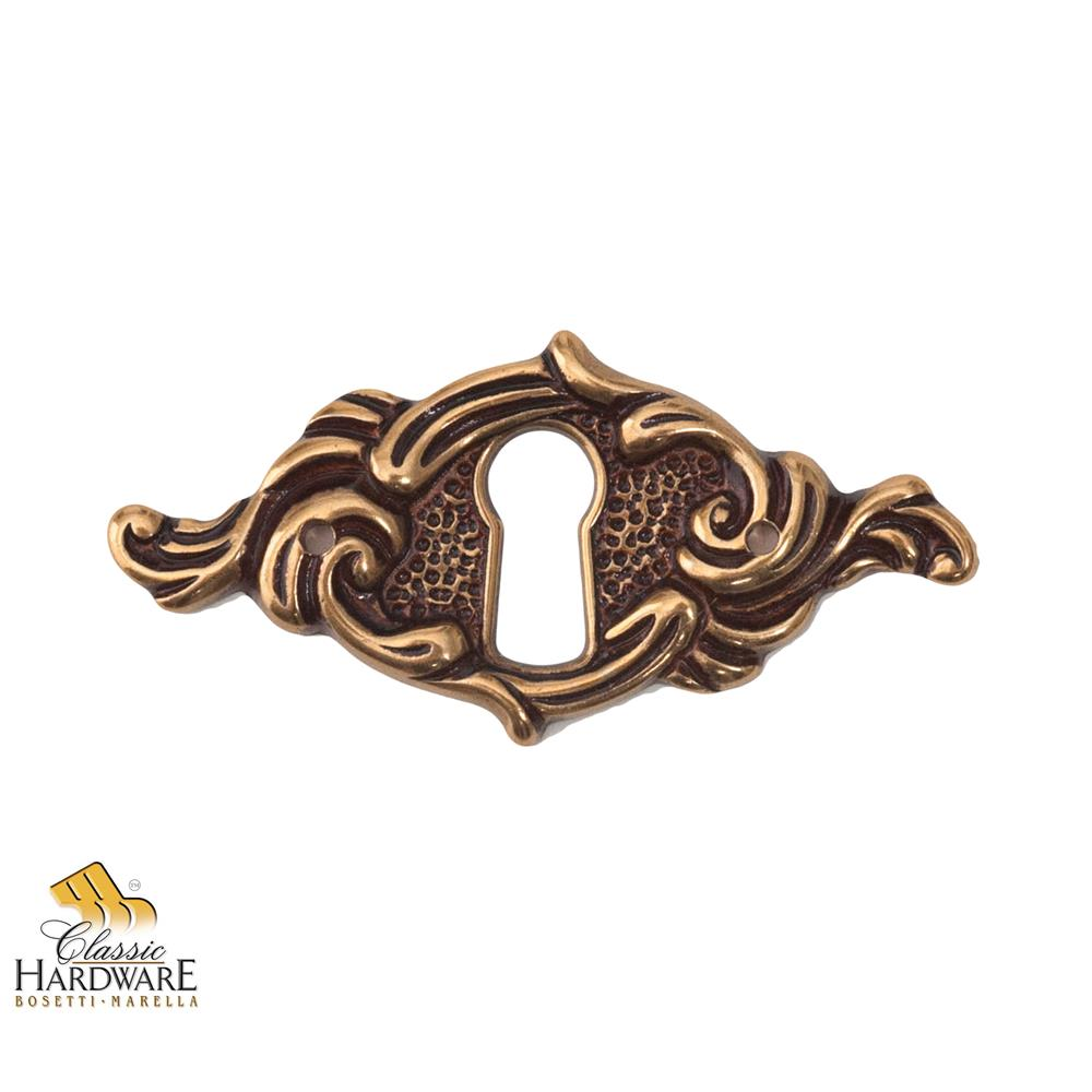 Classic Hardware 100652.54 Escutcheon W/Key Hold, French Ant. Gold