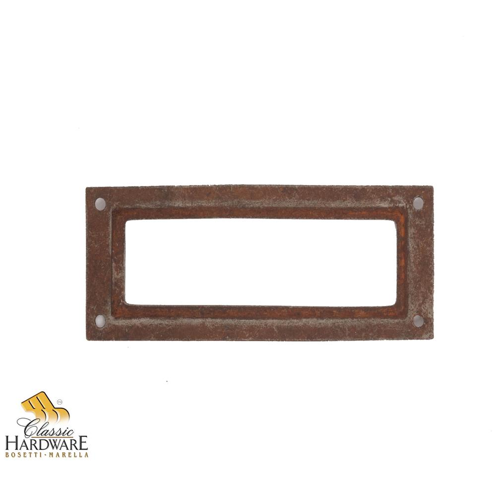 Classic Hardware 100978.03 Brass Card Holder 3.15-Inch by 1.18-Inch in Antique Brass Distressed