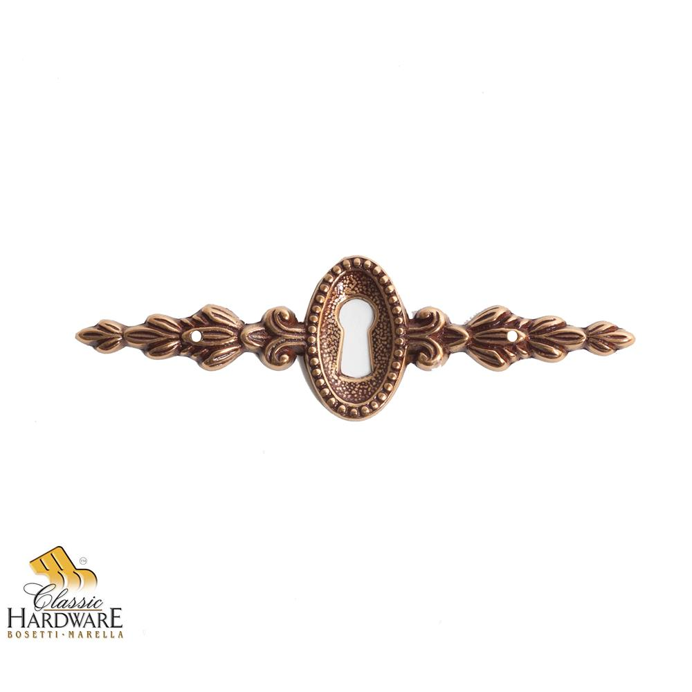 Classic Hardware 101479.54 Louis XVI Brass Escutcheon 4.53-Inch by 1.34-Inch in French Antique Gold