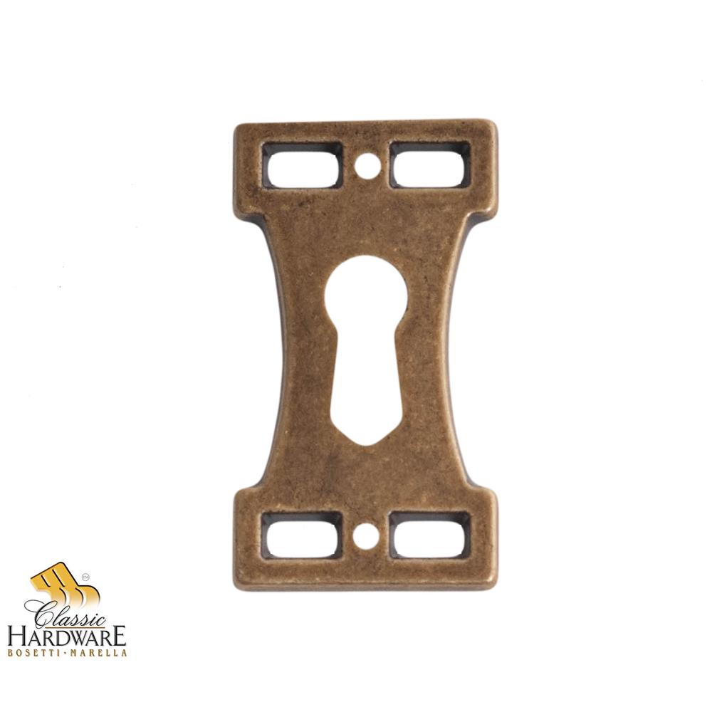 Classic Hardware 101510.09 Key Hole Plate 1.06-Inch by 1.89-Inch in Antique Brass Dark