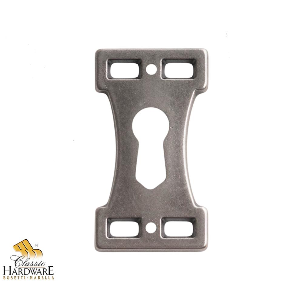 Classic Hardware 101510.19 Key Hole Plate 1.06-Inch by 1.89-Inch in Old Iron