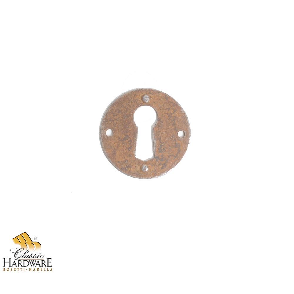 Classic Hardware 101832.33 Escutcheon W/Key Hole Rust