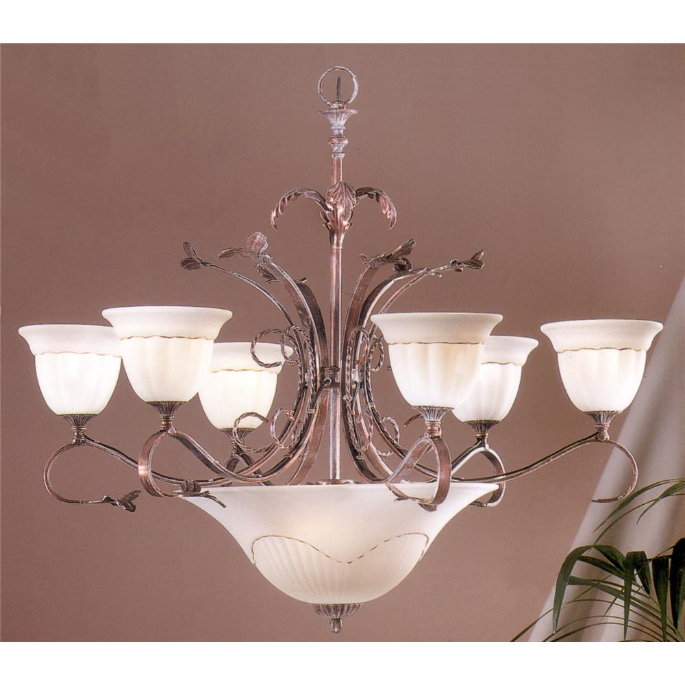 Classic Lighting 4119 WC Treviso Chandelier in Weathered Clay