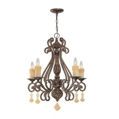 Classic Lighting 71155 TS Riviera Chandelier in Tortoise Shell