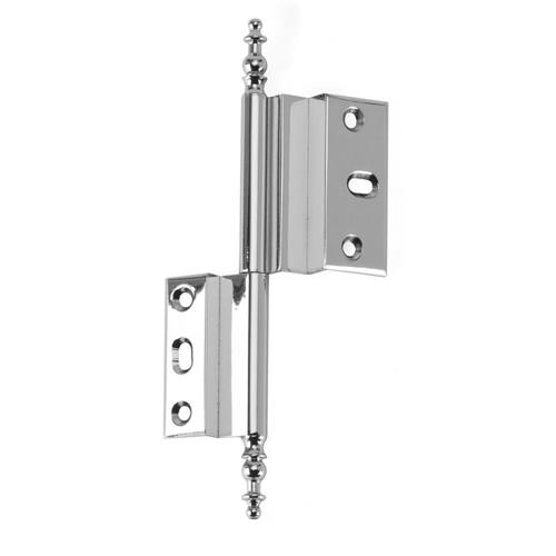 Cliffside Industries AHO-PC-RIGHT Brass Hinge in Polished Chrome