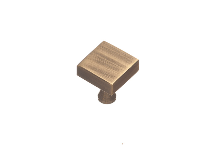 "Colonial Bronze 120-9 1"" Square Knob - Polished Bronze"