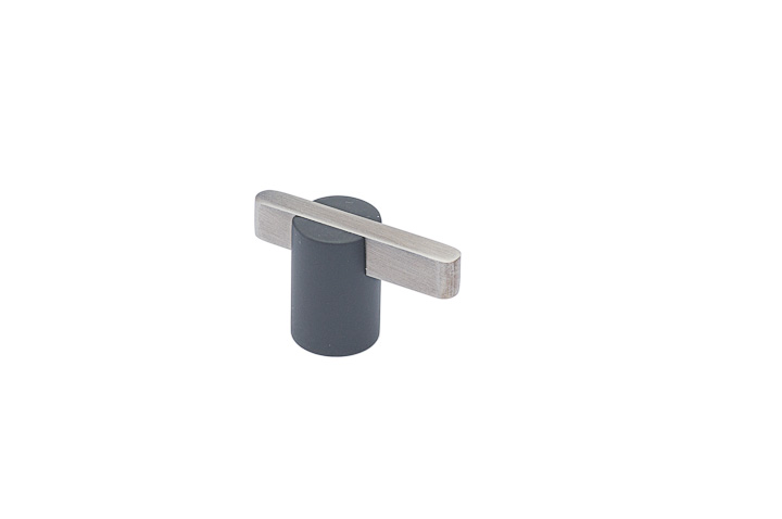 """Colonial Bronze 1330-M15BX26 1 5/16"""" Knob - Matte Pewter and Polished Chrome"""