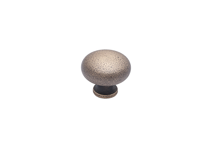 "Colonial Bronze 193-D5 1 1/2"" Knob - Distressed Antique Brass"