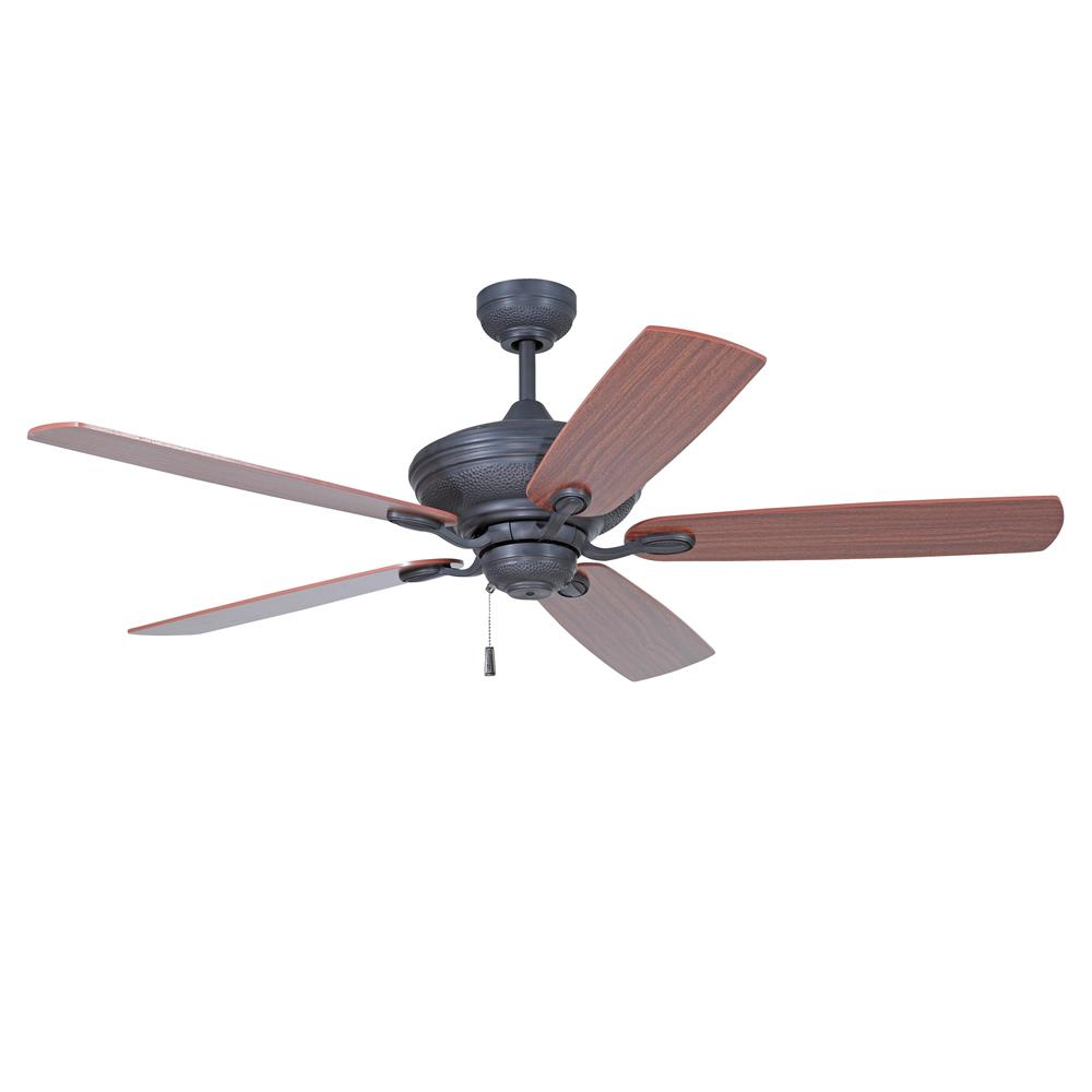 "Craftmade ANV52ABZ5 Anvil 52"" Ceiling Fan with Blades Included in Aged Bronze Brushed with Matte Opal Glass"