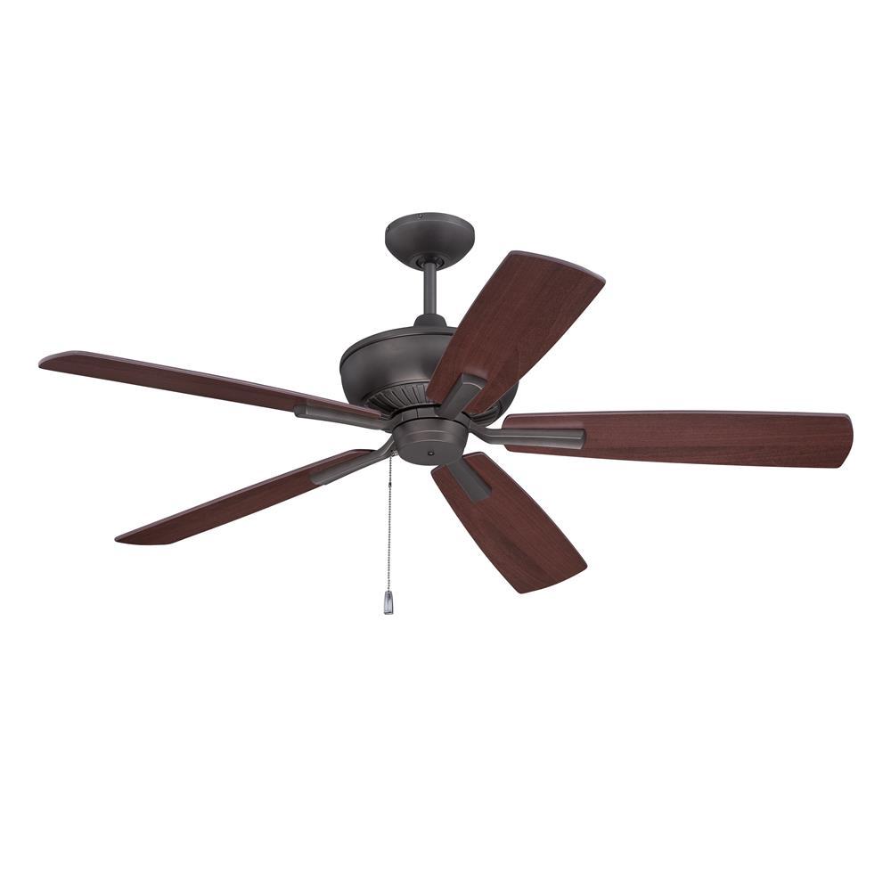 "Craftmade DUN52ESP5 Dunbar 52"" Ceiling Fan with Blades Included in Espresso"