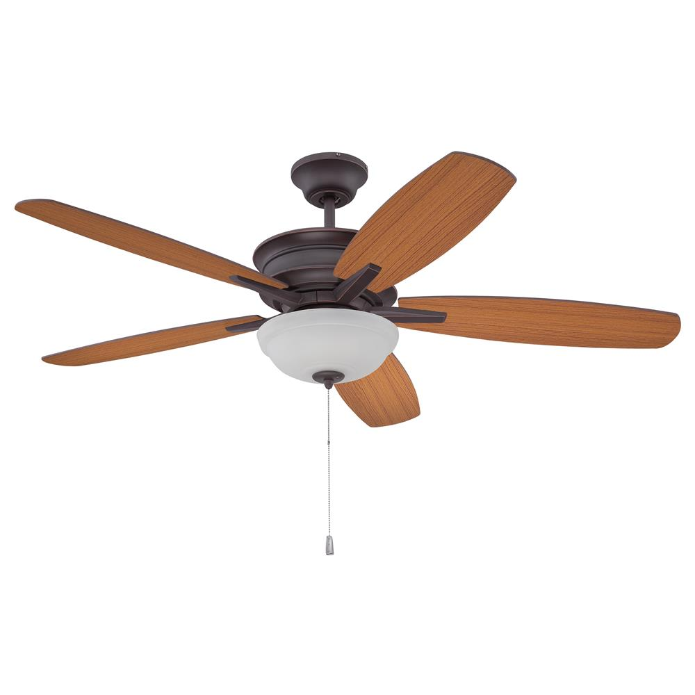 "Craftmade PNB52OBG5 Penbrooke 52"" Ceiling Fan with Blades Included in Oiled Bronze Gilded with Frost Glass"