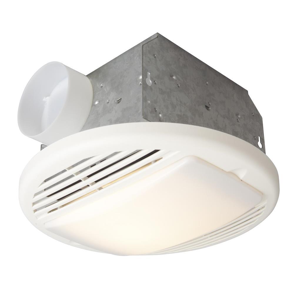 Craftmade TFV70L 70 CFM Bathroom Exhaust Fan Light in Designer White