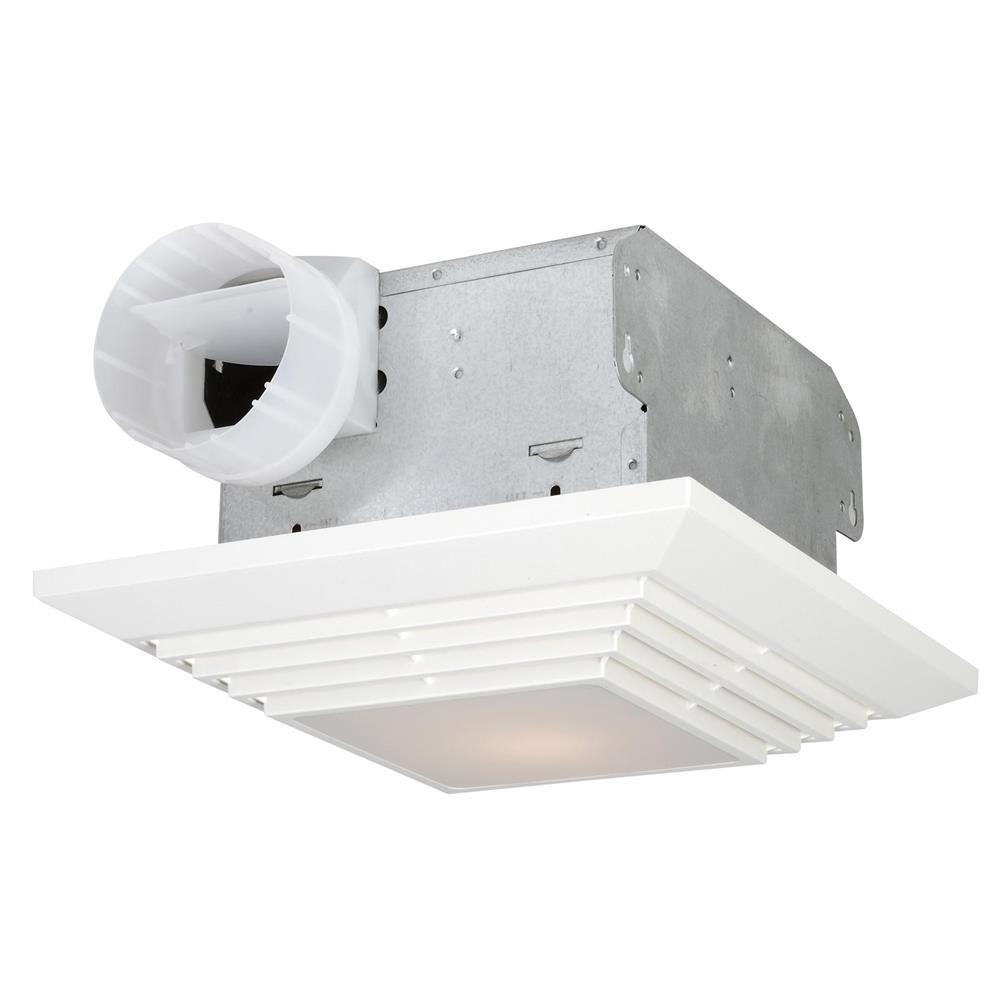 Craftmade TFV90L 90 CFM Bathroom Exhaust Fan Light in White