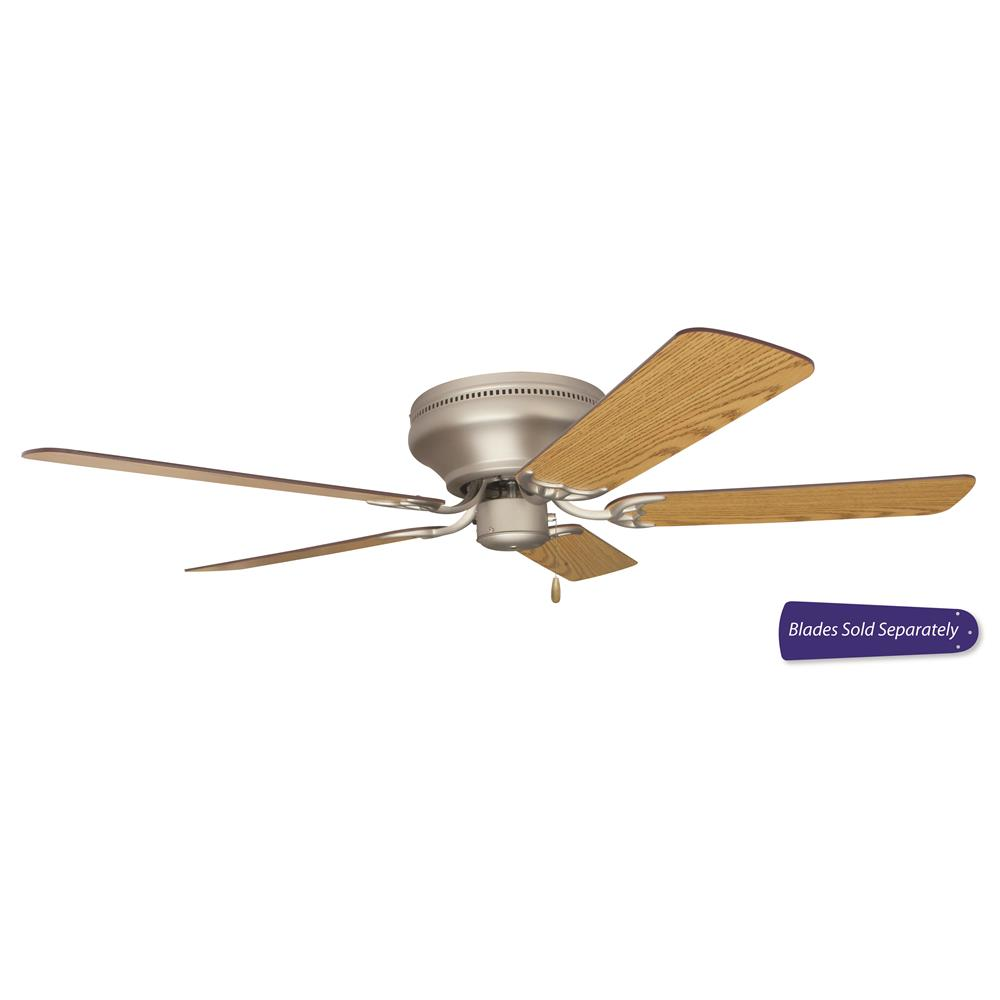 Pfc52bn Craftmade Pro Contemporary Flushmount 52 Hugger Ceiling Fan In Brushed Satin Nickel Craftmadefans