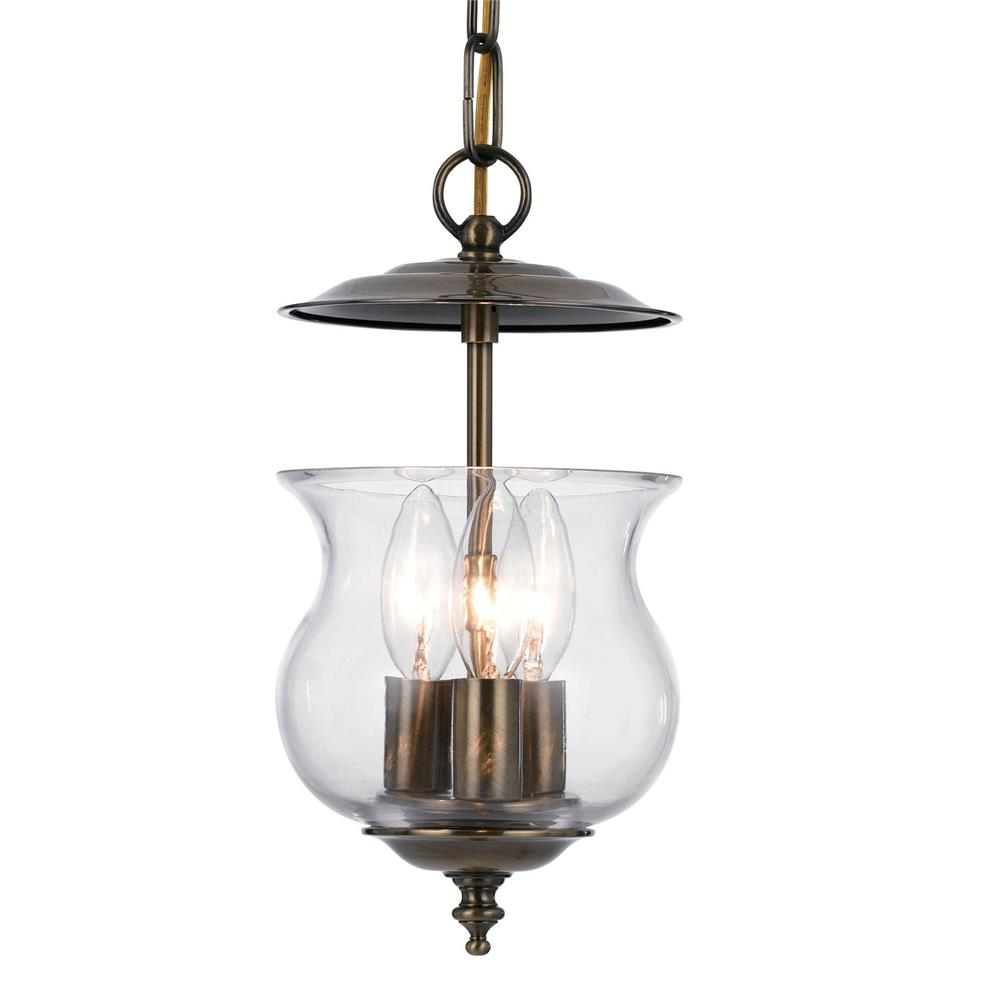 Crystorama Lighting 5717-AB Ascott 3 Light Antique Brass Lanterns