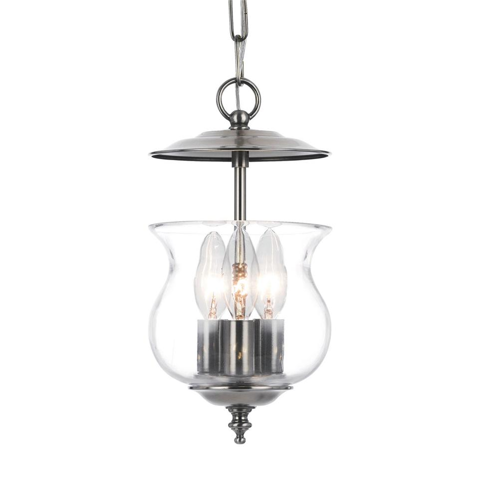 Crystorama Lighting 5717-PW Ascott 3 Light Pewter Lanterns