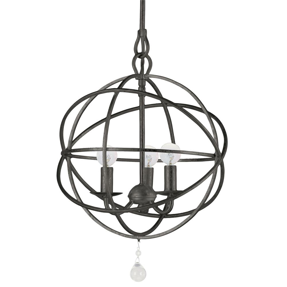 Crystorama Lighting 9225-EB Solaris 3 Light English Bronze Mini Chandelier