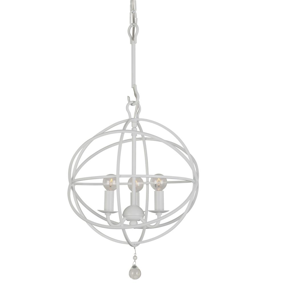 Crystorama Lighting 9225-WW Solaris 3 Light Wet White Mini Chandelier