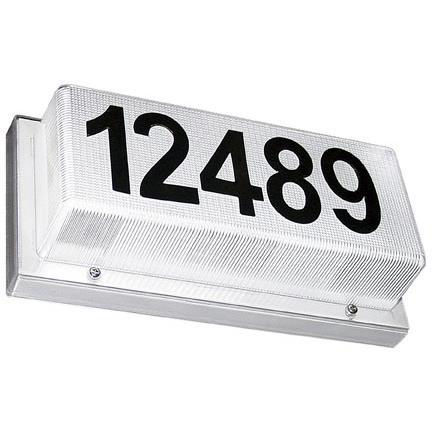Dabmar Lighting W2010 Illuminated Address Box in White