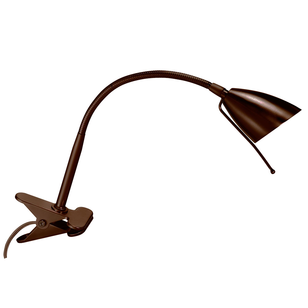 Dainolite Lighting DGU16-OBB Clip-On 1 Light Table Lamp in Oil Brushed Bronze