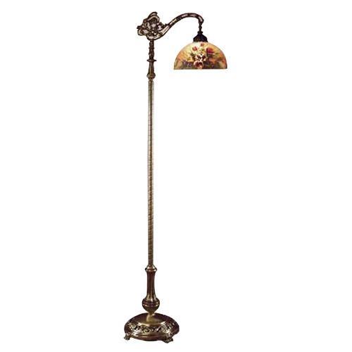 Dale Tiffany 10057/757 Rose Dome Downbridge Floor Lamp