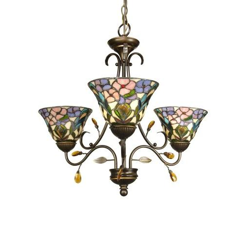 Dale Tiffany TH90214 3-Light Crystal Peony Fixture