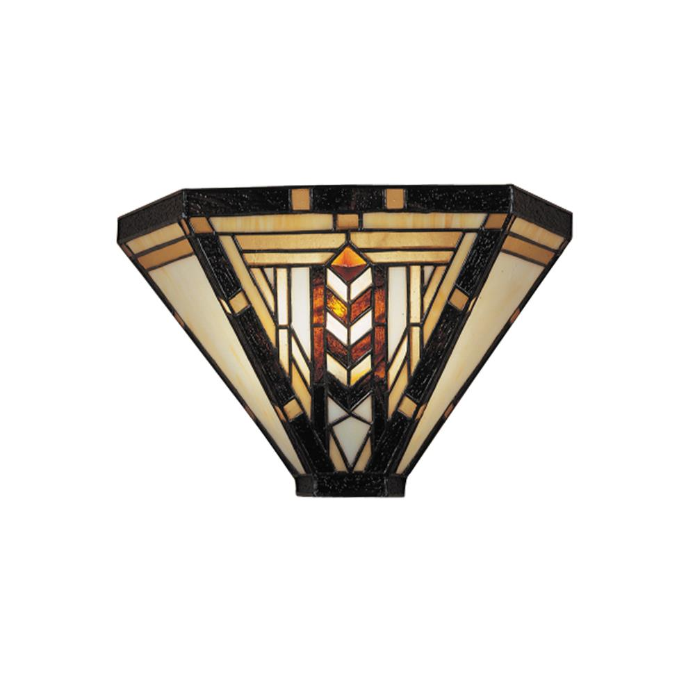 Dale Tiffany TW100888 Stained Glass / Tiffany One Light Wall Sconce from the Carnelian Collection