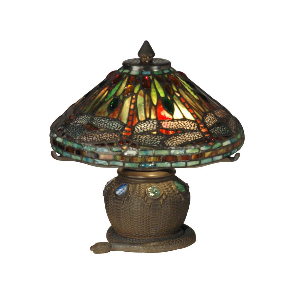 dale tiffany dragonfly snake basket tiffany mini table lamp