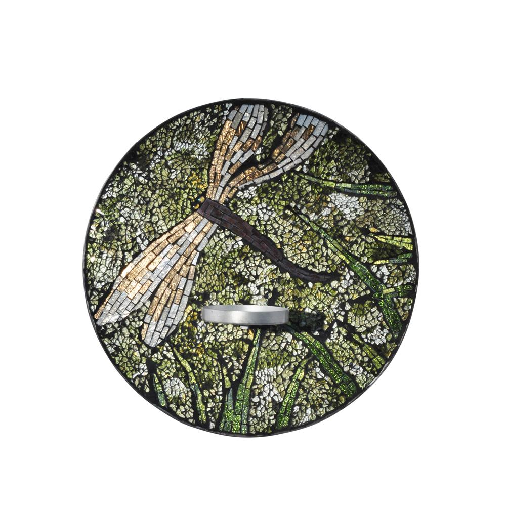 Dale Tiffany AV15429 Dragonfly Mosaic Candle Holder